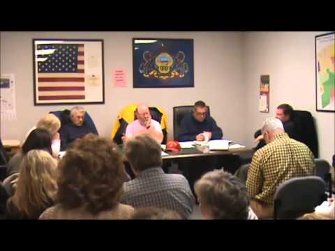 West Cornwall Township Supervisors Meeting - December 8, 2014 - Sunoco Mariner East