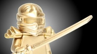 How to Make a Custom Chrome Gold Ninja LEGO Ninjago Golden Minifigure