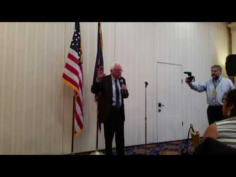 Bernie Sanders Came to breakfast to speak to  Kansas Delegates at the Democratic National Conventio