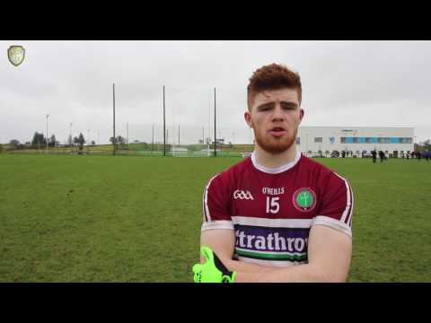 Cathal Mc Shane's post match interview. St. Mary's vs UCC 17.02.17