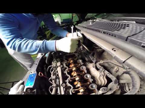 Фото к видео: Регулировка клапанов Хонда Фит, замена свечей