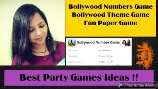 Bollywood Theme Fun game / Bollywood paper game / Bollywood number game / Creative Apurva Jain