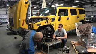 homepage tile video photo for Can the Cheapest Hummer H2 be Saved??? Looking Inside the 6.0 Vortec