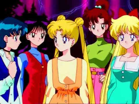 Sailor Moon Sailor Stars Group Transformation Episode 196