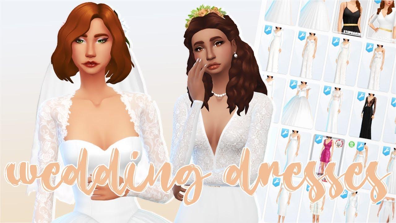 Sims 4 Wedding Dresses CC Showcase (40  download links) YouTube