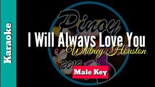 I will always love you by whitney houston (karaoke : male key)