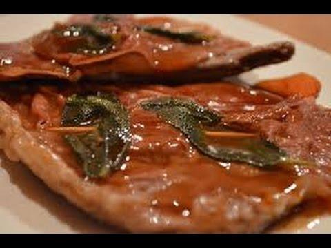 Ricetta veloce Saltimbocca alla romana,Quick recipe Saltimbocca alla Romana,