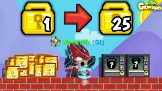HOW TO PROFIT 25 WLS  NO FARMING 100% WORK | Growtopia