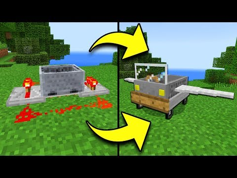 How to UPGRADE a MINECART in Minecraft Tutorial! (Pocket Edition, Xbox, PC)