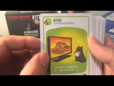 Exploding Kittens Unboxing With Nsfw Deck Youtube
