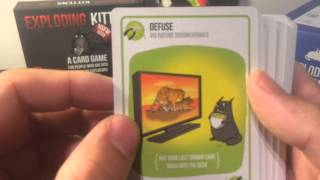 Exploding Kittens Unboxing (with NSFW Deck)
