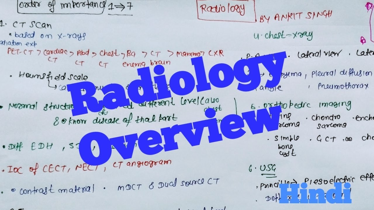 Radiology overview – what We Have to Study in it for Medical Pg.. #MedicalRadiology