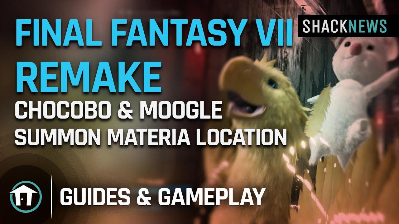 Final Fantasy 7 Remake - Chocobo & Moogle Summon Materia Location - Shacknews
