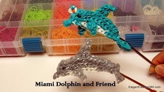 Repeat youtube video How to make Dolphin/Miami Dolphin Charm - Rainbow Loom Action Figure