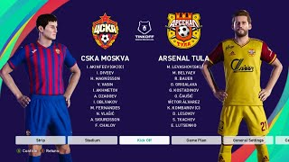CSKA Moscow Vs Arsenal Tula - Russian Premier League 2020/21 - Full Match & Gameplay - PES 2021
