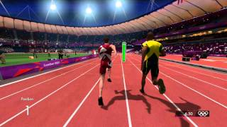 London 2012 game - 100m - gameplay