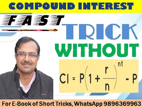 how to find compound interest without a calculator