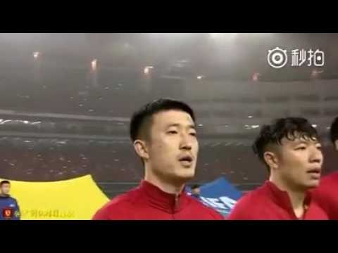 """China 1—0  Korea The Chinese national anthem is called """"march of the volunteers""""."""