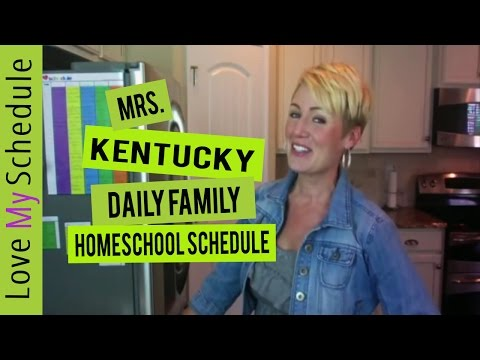 Daily Family Schedule (homeschool schedule and chore chart) Love My Schedule