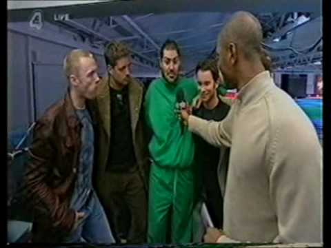 Boyzone support Shane Lynch on the Games
