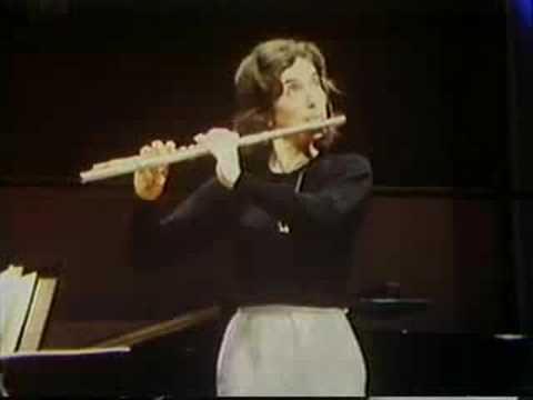 Paula Robison, flute - Carmen Fantasie Rehearsal