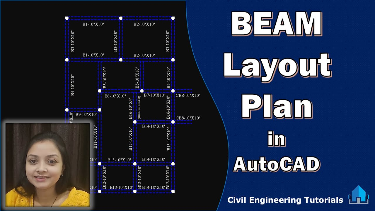 How to draw BEAM Layout Plan of Building in AutoCAD || Building #2