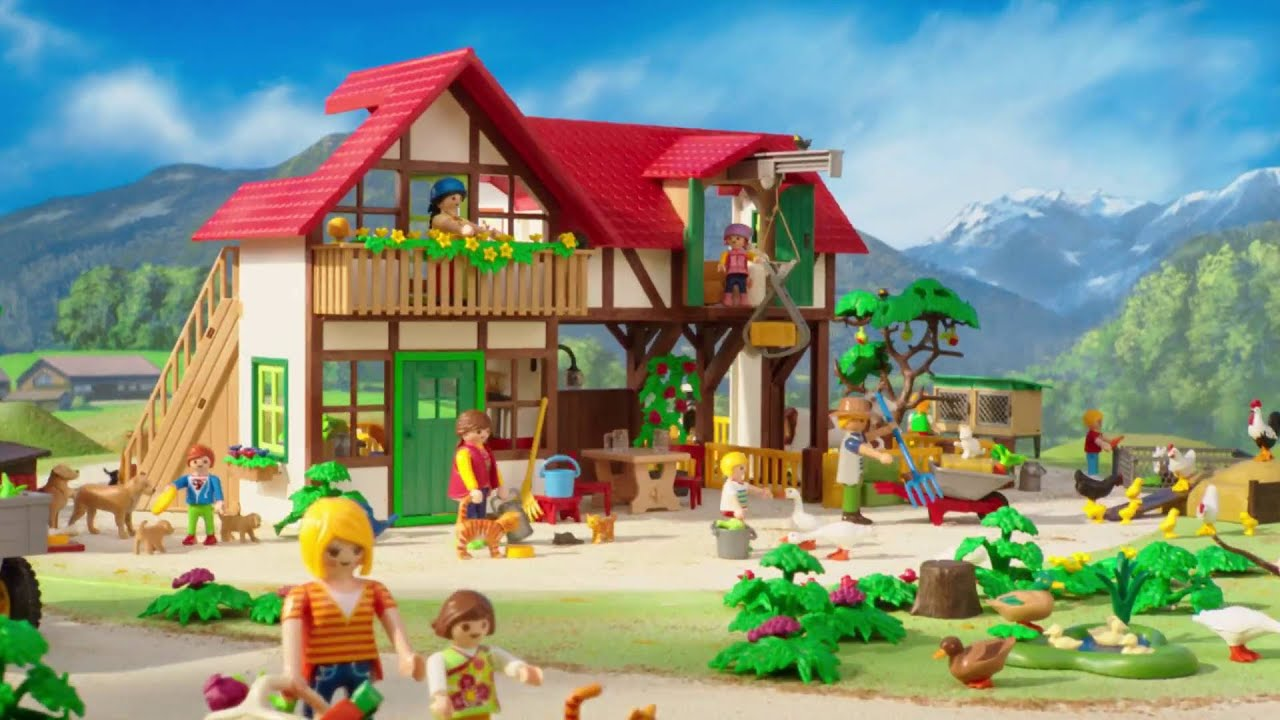 la ferme playmobil country youtube. Black Bedroom Furniture Sets. Home Design Ideas