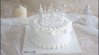 티아라케이크 만들기 Tiara Cake (생크림케이크) 왕관케이크
