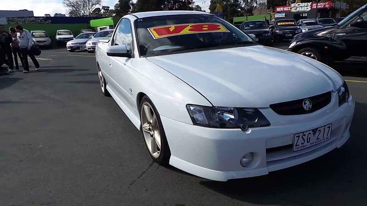 Awd Cars For Sale >> Used 2003 Holden Commodore SS VY Ute for sale (Car City Ringwood Victoria) - YouTube