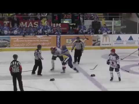 Brady Ramsay Vs Konstantin Teslyukevich EIHL Fight 13-1-18