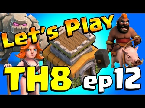 Clash of Clans: Let's Play Th8! ep12 - King lv8 + WALLS FOR DAYS!!