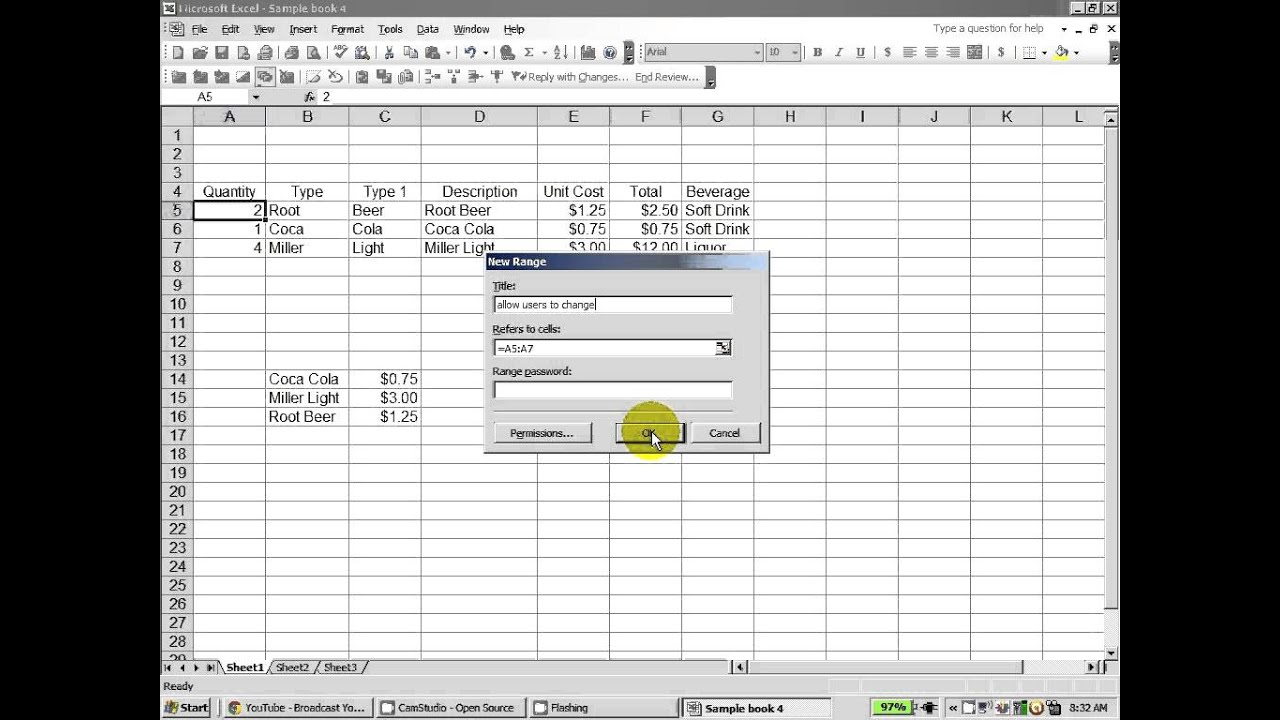 Excel How To Protect A Worksheet And Allow Users To Change Certain Ranges