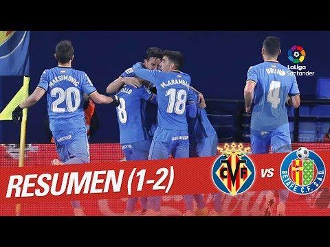 Resumen de Villarreal CF vs Getafe CF (1-2)
