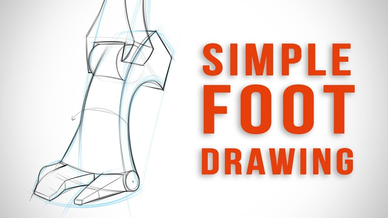 Simplifying The Foot For Easy Drawing