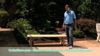 Select Pine Heavy Duty Table Bench From Cedarstore.com