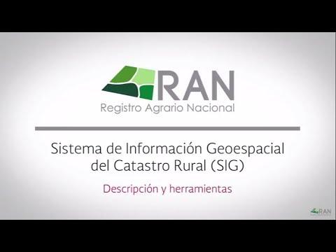 Servicios Públicos De Información Del RAN.  SIG. Descripción Y Herramientas