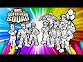 SUPER HERO SQUAD Coloring Page   Avengers Coloring Set