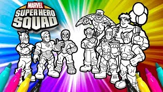 SUPER HERO SQUAD Coloring Page | Avengers Coloring Set