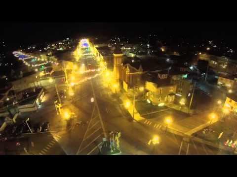 Christmas Drone View of Marshall's Lights