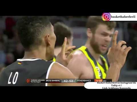 Brose Baskets Bamberg 57-80 Fenerbahçe Doğuş - Euroleague Maç Özeti - 10 Kasım 2017