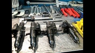 Насос форсунка двигателя ЯАЗ-204. Запуск дизельного двигателя после длительной стоянки.