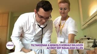 Tiltakoznak a miskolci kórház dolgozói az őket ért vádak ellen