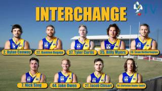 Round 5 Team Selection Vs Werribee