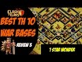 Clash of Clans Best TH 10 War Base Design 1 Star Wonder 3