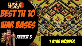 "Clash of Clans: Best TH 10 War Base Design - ""1 Star Wonder"" #3"