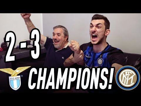Lazio 2-3 inter | live reaction tifosi interisti! highlights e gol!