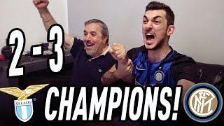 Lazio 2-3 inter | live reaction tifosi interisti! highlights e gol!