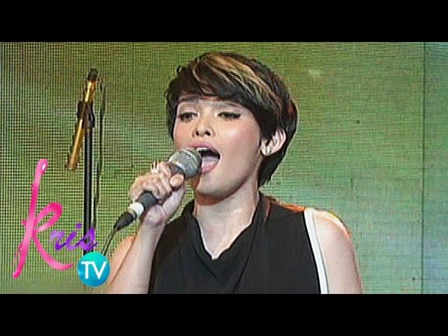 "Kris TV: KZ Tandingan sings ""Titanium"""
