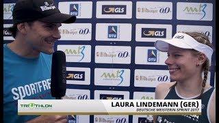 1. Bitburger 0,0% Triathlon-Bundesliga Grimma 2017 - Siegerinterview Laura Lindemann
