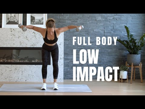 Low Impact FULL BODY HIIT // Workout with Weights
